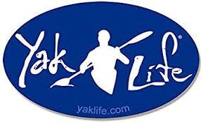 Amazon Com American Vinyl Licensed Oval Blue Yak Life Sticker Kayak Kayaking Decal Automotive