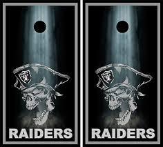 Oakland Raiders Cornhole Wrap Nfl Rocks Game Board Skin Set Vinyl Decal Co103 Cornhole Bag Toss