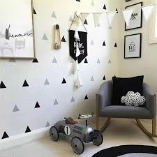 Baby Boy Room Triangles Wall Stickers Simple Shape For Children Room Art Decorative Sticker Kids Nursery Wall Decals Home Decor Wall Stickers Aliexpress