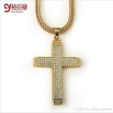 cross pendant necklace 18k gold