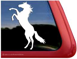 Custom Rearing Horse Decals Stickers Nickerstickers