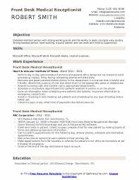 cal receptionist resume sles