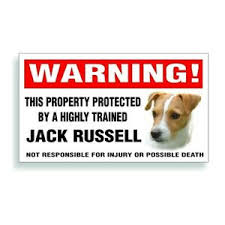 Warning Decal Trained Jack Russell Dog Bumper Or Window Sticker Ebay