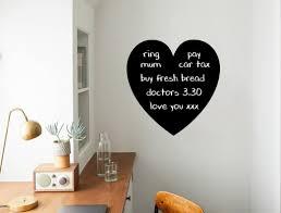 Heart Chalkboard Wall Sticker Heart Blackboard Wall Decal Etsy Heart Wall Stickers Wall Sticker Design Wall Stickers