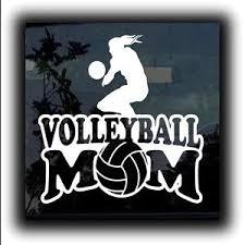 Volleyball Mom Window Decal Sticker A1 Custom Sticker Shop