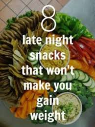 8 late night snacks for weight loss