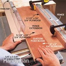 How To Use A Table Saw Ripping Boards Safely Diy
