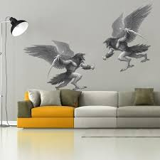 Shop Battle Myth Raven Sword Full Color Wall Decal Sticker K 1243 Frst Size 40 X63 Overstock 21477277