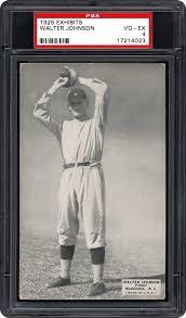 1925 Exhibits Walter Johnson | PSA CardFacts®