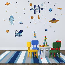 Spaceship Space Rocket Flying Saucer Alien Wall Sticker For Kids Rooms Bedroom Decorations Wallpaper Mural Art Decals Stickers Nursery Wall Decals Nursery Wall Sticker From Qiansuning888 5 42 Dhgate Com