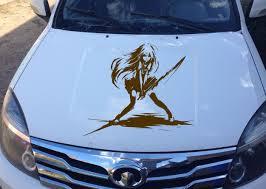 Anime Car Decal Car Sticker Vinyl Anime Sticker Samurai Girl Anime 10310 2 Car Decals Anime Stickers Samurai