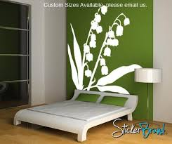Vinyl Wall Decal Sticker Lily Of The Valley Flower Ac145 Stickerbrand