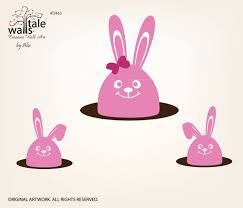 Bunny Wall Decals 3 Rabbits For Your Nursery
