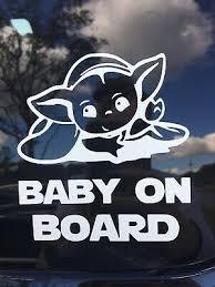 Baby Yoda Car Decal Ebay