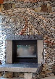 river rock fireplace not sure whether