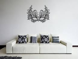 Ik1056 Wall Decal Sticker Venetian Mask Columbine Carnival Bedroom Stickersforlife