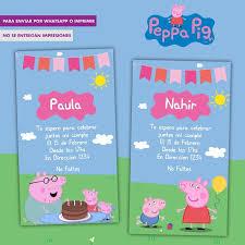 Invitacion Digital Peppa Pig Cumpleanos 100 00 En Mercado Libre