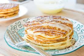 cinnamon roll pancakes fun and easy