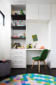 Like The Desk Next To The Wardrobe Not Shown In Photo Not A Big Fan Of The Shelves Bulkhead Needs To Be Overhe Bedroom Desk Bookshelf Desk Floating Shelves
