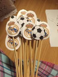 Soccer Themed Skewers Real Madrid Con Imagenes Fiestas De