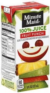 minute maid fruit punch 100 juice 6
