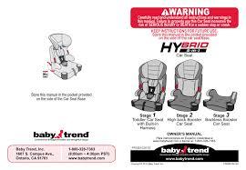 babytrend hybrid 3 in 1 user manual
