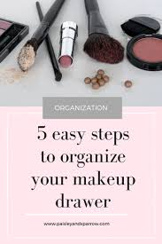 makeup drawer in 5 easy steps