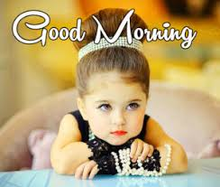 cute baby good morning wishes