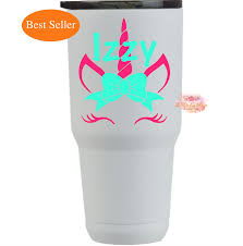 Unicorn Vinyl Decal With Name Personalized Unicorn Decal Etsy Unicorn Easter Basket Vinyl Decals Yeti Decals