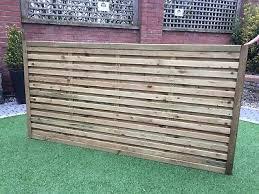 Contemporary Garden Screens Modern Treated Fence Panels The Monaco 180x90cm Ebay