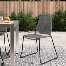 raina stacking patio dining chair