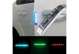 1pc Solar Car Door Anti Collision Lights New Car Styling Door Stickers Bumper Warning Lights Accessories Decal 7color Wish