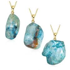 natural agate stone pendant necklace