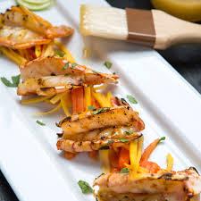 tiger shrimp with mango habanero honey