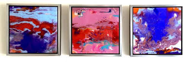 abstract painting marble acrylic on