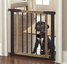 Buy Logan Dog Gate Indoor Pet Barrier Expandable To 40 Walk Through Swinging Door Extra Wide Pressure Mounted Walls Stairs Small And Large Dogs Wood Metal Best Dog Gate Nmn Designs