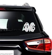 Christmas Penguins Monogram Car Decal Personalized Youcustomizeit