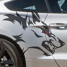 Pickup Wolf Side Coyote Fits Vinyl Mustang Vehicle Graphic Decal Sticker Truck Ebay