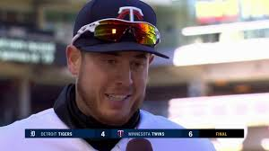 C.J. Cron on his home run and the Twins' win - YouTube