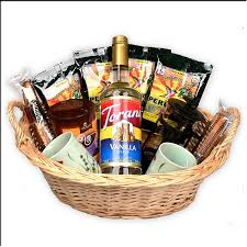 gift basket with a french press