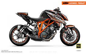 Ktm 1290 Super Duke R Graphic Kit Vortex Black Orange Motoproworks Decals And Bike Graphic Kit