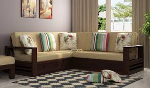 winster l shaped wooden sofa with