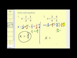solving one step equations involving