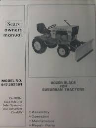 garden tractor push blade dozer