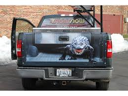 Gator Alligator Truck Tail Gate Tailgate Pick Up Bed Funny Perspective Illusion Wrap Gurnee Lake County