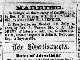 W J Palmer's Marriage to Priscilla Jenkins - Newspapers.com