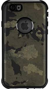Amazon Com Skinit Waterproof Phone Case Compatible With Iphone 6 6s Officially Licensed Skinit Originally Designed Wood Camo Design