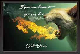 pw walt disney quote wall poster inches matte finish paper