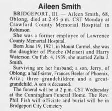 Obituary for Aileen Smith (Aged 68) - Newspapers.com