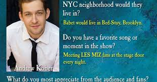 Andrew Kober's #MeetTheCast card, part 2 | It cast, Les miserables ...